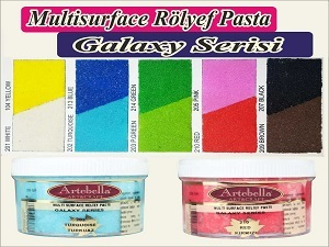 Galaxy Serisi Multi Surface Rölyef Pasta